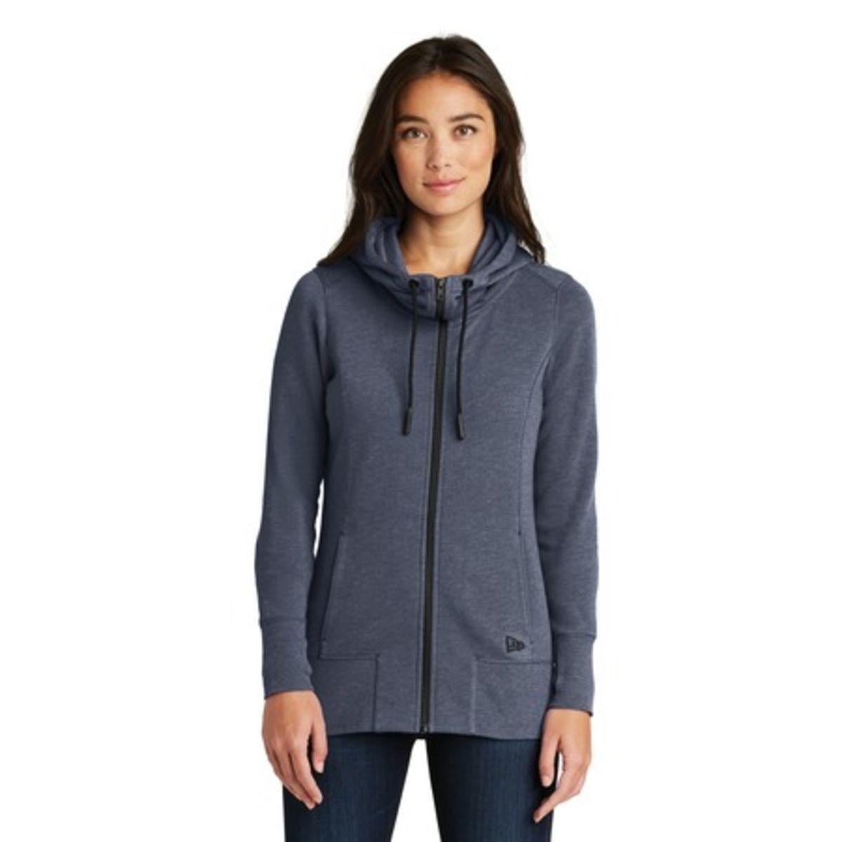 Promotional New Era Ladies Tri-blend Fleece Full-zip